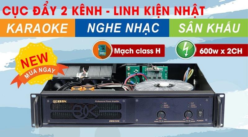 Cục đẩy công suất BIK VM 620A (2 kênh - Japan)
