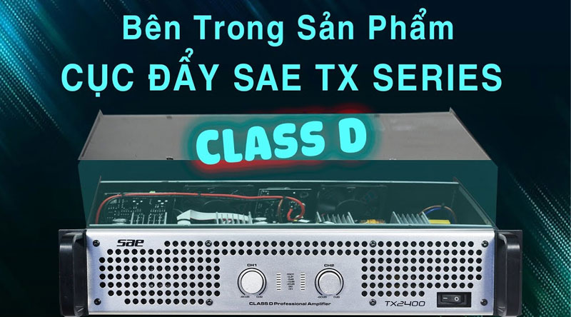 Cục đẩy công suất SAE TX800