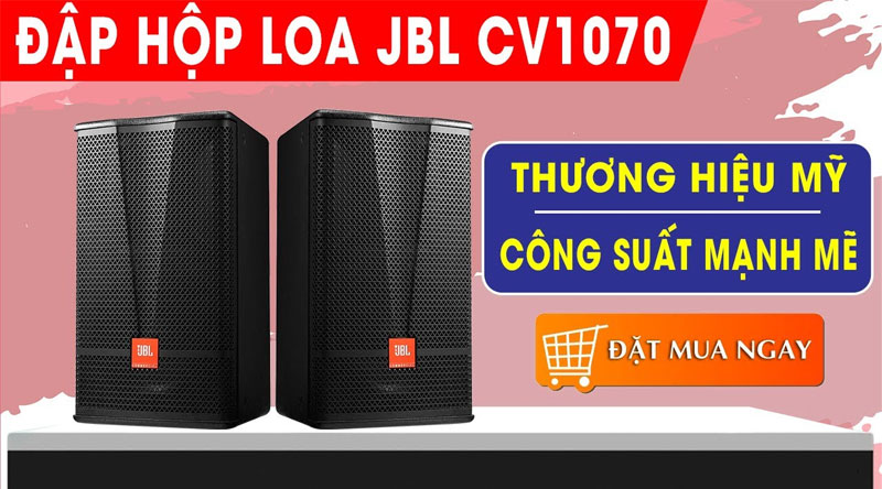 Loa karaoke JBL CV1070 (full bass 25cm, New 2020-Ba Sao)
