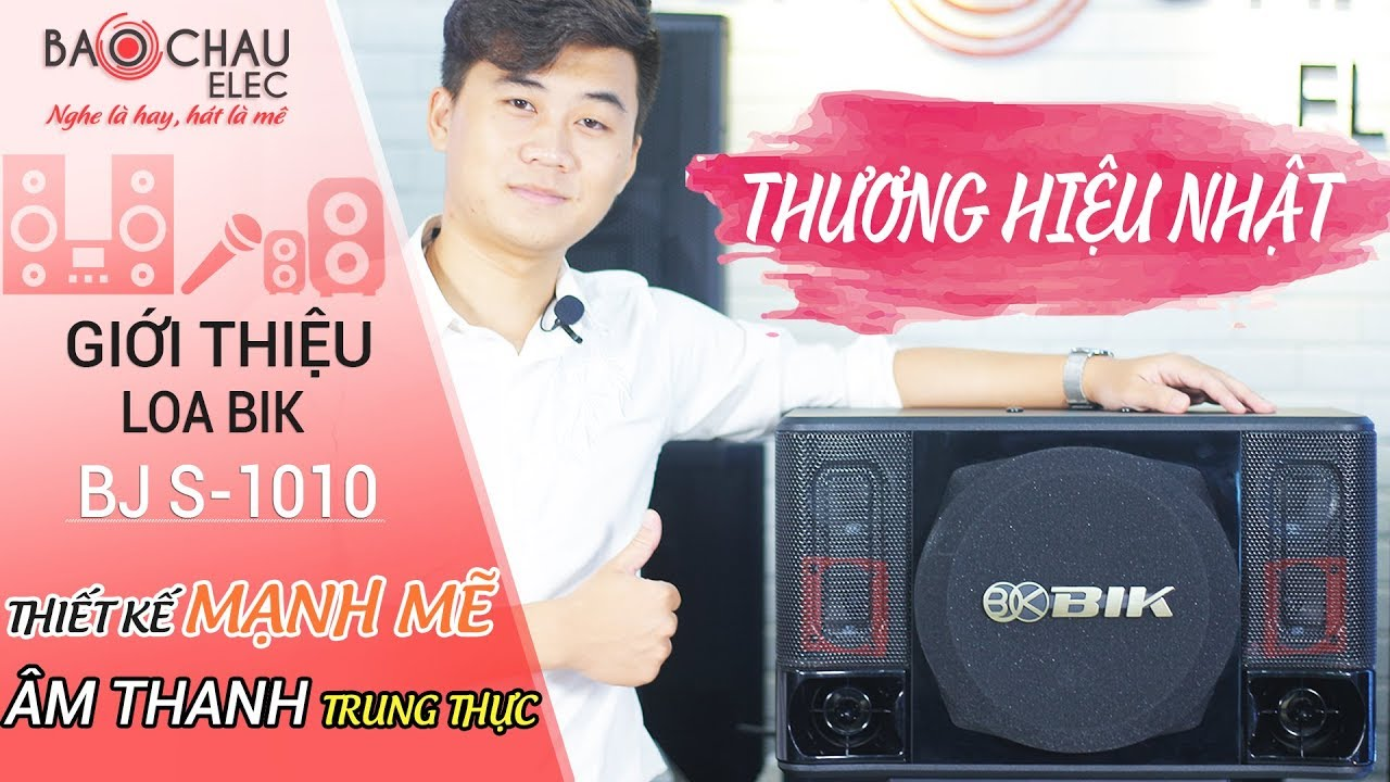 Loa karaoke Nhật BIK BJ S1010 (bass 25cm)