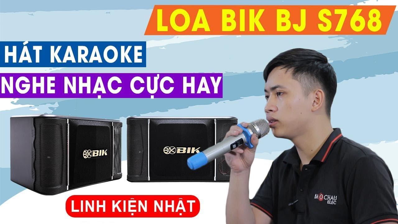 Loa karaoke Nhật BIK BJ S768 (bass 25cm)