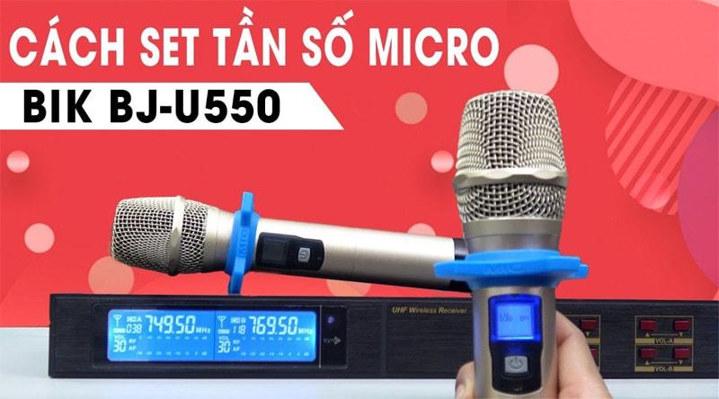 Micro không dây BIK BJ U550 (Japan)