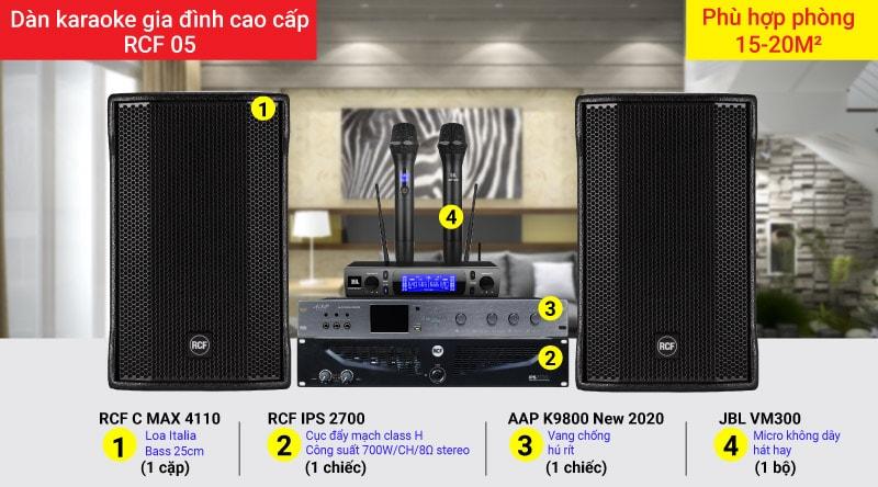 Dàn karaoke gia đình cao cấp RCF 05