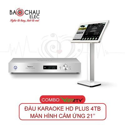Combo VietKTV HD Plus 4TB + Màn hình 21