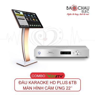 Combo VietKTV HD Plus 6TB + màn 22 inch