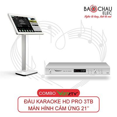 Combo VietKTV HD PRO 3TB + Màn hình 21