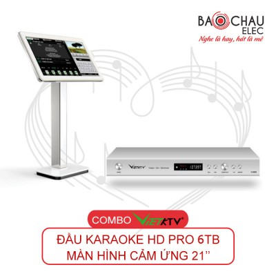 Combo VietKTV HD Pro 6TB + màn 21 inch