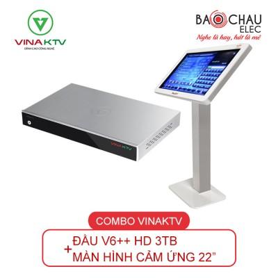 Combo VinaKTV V6++ HD và Màn hình 22