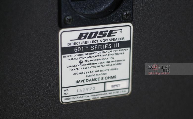 Thông số kỹ thuật loa bose 601 seri 3