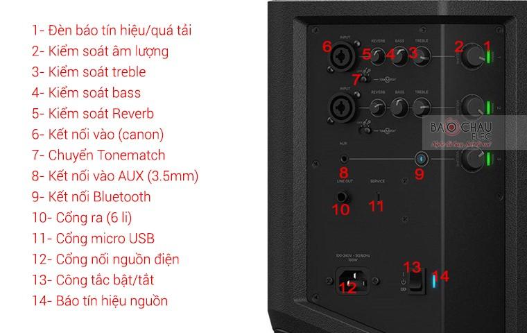 loa Bose S1 Pro hệ thống cổng kết nối đa dạng, phối ghép dễ dàng