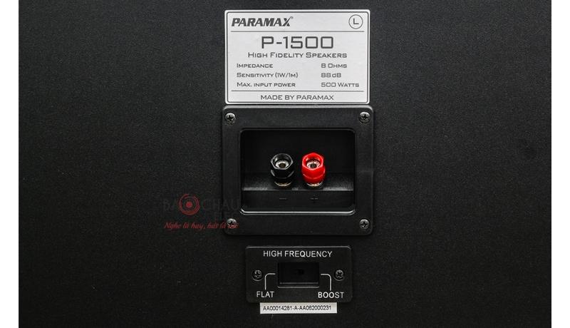 Loa karaoke Paramax P1500 mặt sau 2