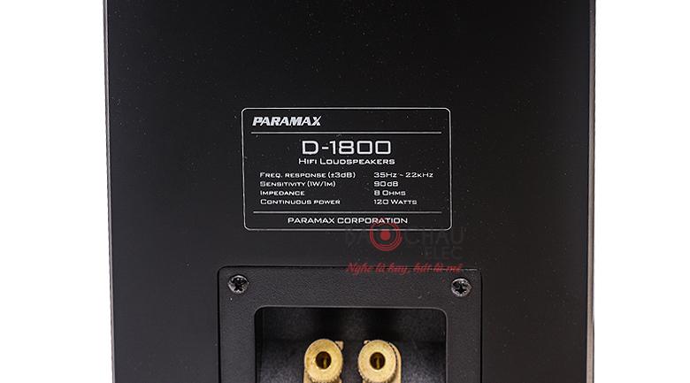 Loa Paramax D1800 thống số
