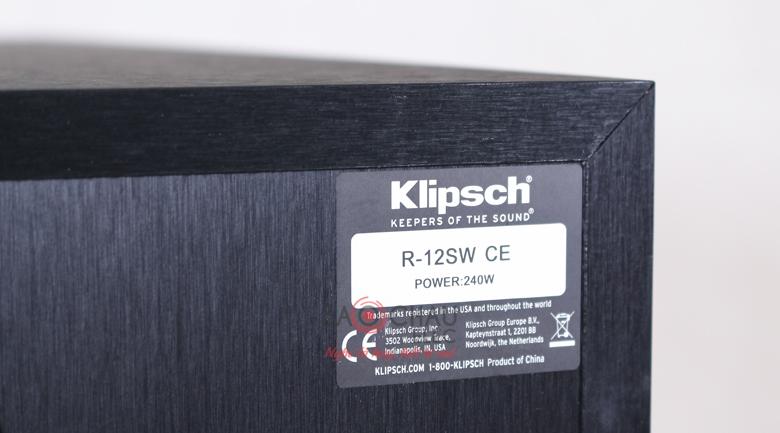 Loa sub Klipsch R12SW mặt sau 2
