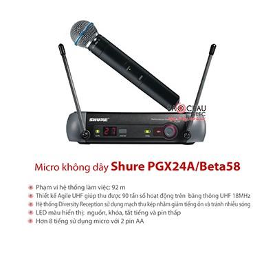 Micro Shure PGX24A/Beta58