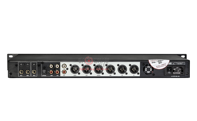 Mặt sau mixer karaoke JBL KX180