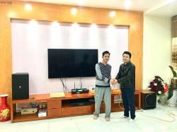 Bộ dàn karaoke cao cấp cho gia đình anh Chỉnh tại Hải Phòng