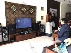 Bộ dàn karaoke cao cấp của gia đình anh Kiên ở TP Phúc Yên (JBL 4012, JBL KX180, Alto TS212, BCE UGX12, Famous 3208)