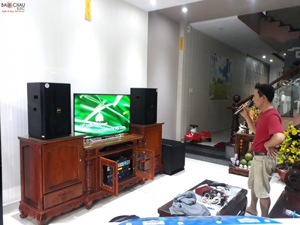 Bộ dàn karaoke cao cấp của gia đình anh Sự tại Biên Hoà