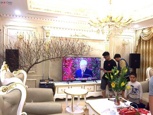 Bộ dàn karaoke cao cấp của gia đình anh Tuấn ở Biệt Thự Nguyễn Xiển