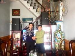 Bộ dàn karaoke chuyên nghiệp của gia đình chú Tùng ở Nam Định