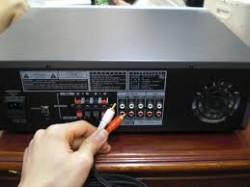 Cách đấu nối amply với TV và đầu phát VCD/DVD