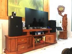 Dàn karaoke cao cấp JBL của gia đình chị Hương ở Hải Dương (JBL 4012, Famous 7406, BF K6, BCE UGX12, Việt KTV 22 inch)