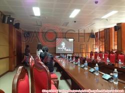 Dàn karaoke tiêu chuẩn tại phòng họp của Trường đào tạo nhân lực Vietinbank