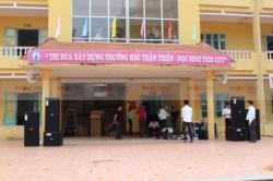 Lắp đặt dàn âm thanh hội trường cho trường THPT Lục Nam Bắc Giang