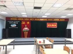 Lắp đặt dàn âm thanh hội trường cho viettel Đồng Nai ( Catking 2.5, KTWO 10, JBL KX180, UGX12 Plus, BCE 6200, Q13, MG12XU)