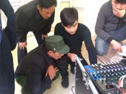 Lắp đặt dàn âm thanh hội trường thôn Lạc Trung ( Catking 2.3, V18S, MG12XU, DP-9200+, Q10, Q13, UGX12)