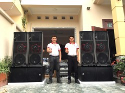 Lắp đặt dàn âm thanh nhạc sống đám cưới khủng tại Bắc Giang ( Catking 2.6, Alto 315, V218S, TS218, 231S, Q13, VIP 3000, live 1202)