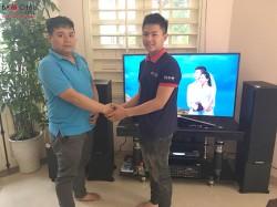 Lắp đặt dàn karaoke gia đình giá rẻ cực hay cho anh Trung tại Hải Châu, Đà Nẵng