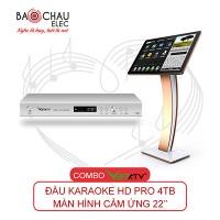 Combo VietKTV HD PRO 4TB + Màn hình 22