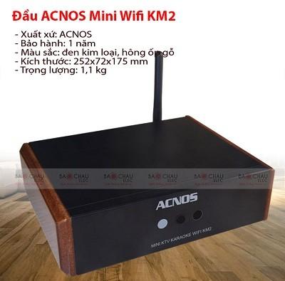 Đầu karaoke Acnos Mini wifi KM2