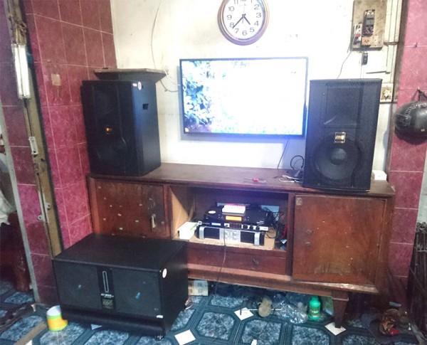 Bộ dàn karaoke BMB của gia đình anh Đạt ở Q. Tân Phú