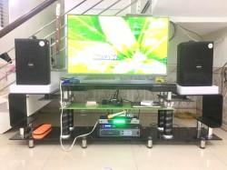 Bộ dàn karaoke Domus của gia đình anh Sáng ở Bắc Giang (Domus 6100, SAE PKM 6.5, Listensound FX -9MK, BCE UGX12)