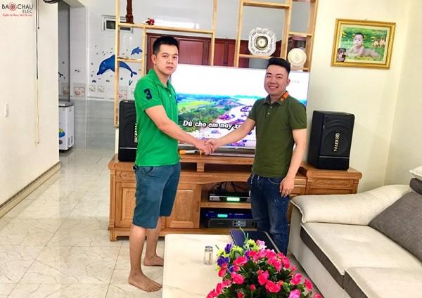 Bộ dàn karaoke hay, giá tốt của gia đình anh Tân ở Hải Phòng (BIK BJ-S886, SAE PKM 6.5, BF Audio K7, BCE UGX12)