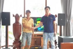 Bộ dàn karaoke JBL của gia đình anh Thắng ở Hội An (JBL 4012, JBL KP18S, Famous 7406, JBL KX180, BCE UGX12 Gold)