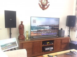 Dàn karaoke cao cấp cho gia đình anh Nhất sống ở Long Biên (Domus 6120, Alto TS212, SAE PKM 8.5, JBL KX180, UGX12 Plus, Việt KTV 4TB Plus)