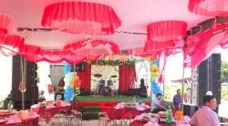 Lắp đặt dàn âm thanh line array sự kiện, đám cưới ngoài trời tại Kiên Giang ( VF218SUB, Q8, DP-9200+, MG20XU, UGX12 Plus)