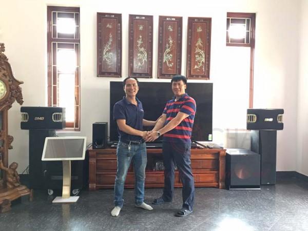 Lắp đặt dàn karaoke gia đình hơn 80 triệu cho bác Gan tại Hải Phòng (BMB 900SE, Crown T7, R115SW, UGX12 Plus)