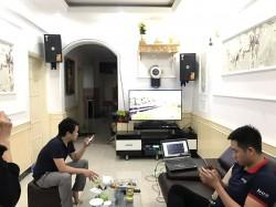 Lắp đặt dàn karaoke JBL cho anh Bình ở Chùa Bộc, Hà Nội (KES 6100, PKM 6.5, JBL KX180, BCE UGX12)