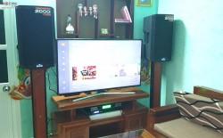Bộ dàn karaoke Alto của gia đình anh Truyền ở Đà nẵng (Alto TS312 , Listensound FX 9MK, BCE UGX12)