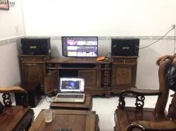 Bộ dàn karaoke BMB của gia đình anh Tạo ở Bình Dương ( BMB 310SE, NS-SW100, Famous 3206, KX 180, BCE UGX12)