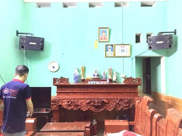Bộ dàn karaoke BMB của gia đình anh Thắng ở Bắc Giang