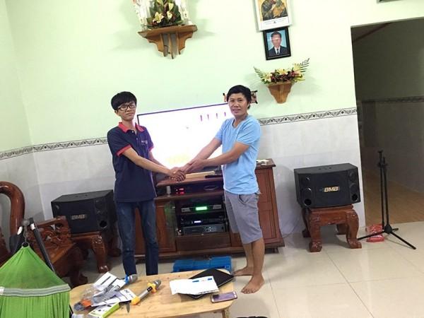 Bộ dàn karaoke BMB của gia đình anh Thông ở Biên Hoà