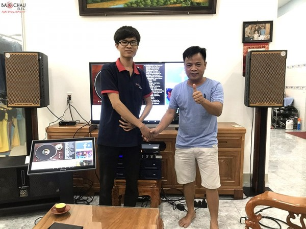 Bộ dàn karaoke cao cấp của gia đình anh Hội ở Đồng Nai