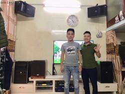 Dàn karaoke JBL cao cấp của gia đình anh Kẹo ở Hải Phòng (JBL Ki81, JBL Ki82, Crown T10, JBL KX180, BCE VIP3000)