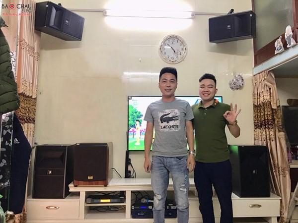 Dàn karaoke JBL cao cấp của gia đình anh Kẹo ở Hải Phòng