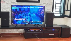 Dàn karaoke JBL của gia đình cô Mai ở Đà Nẵng ( KP 4010, R120SW, KX 180, Crown 1500)